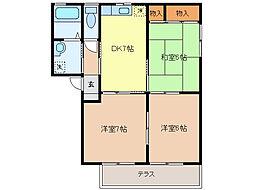 ウィンドフィル 1階3DKの間取り
