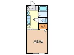 堀込レジデンス[103号室]の間取り