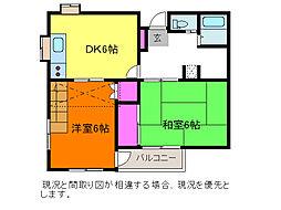 新潟県新潟市中央区新和3丁目の賃貸アパートの間取り