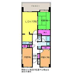アークハイム新潟[6階]の間取り