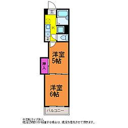 レジデンスカープ新潟[9階]の間取り