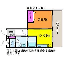 T&K出来島[3階]の間取り