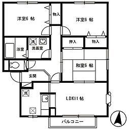 パークタウン新和[1階]の間取り