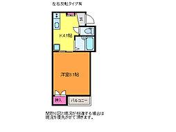 新潟県新潟市中央区鐙3丁目の賃貸アパートの間取り