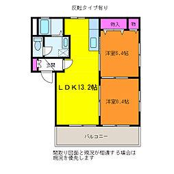シャーメゾン・ランブル[2階]の間取り
