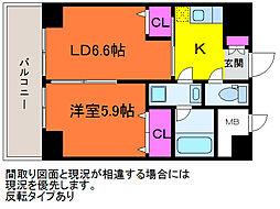 willDo笹口[6階]の間取り