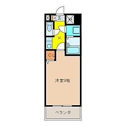 カーム富岡[3階]の間取り