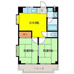 日比野マンション[2階]の間取り