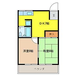 ハイツkiso[2階]の間取り