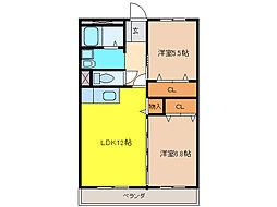 プランドールウヌマ[2階]の間取り