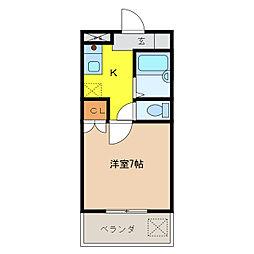 メゾンキット[305号室]の間取り