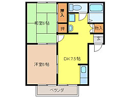 プレジールタクミA[2階]の間取り