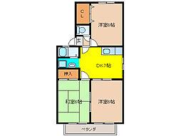 ロイヤルガーデン田中[2階]の間取り