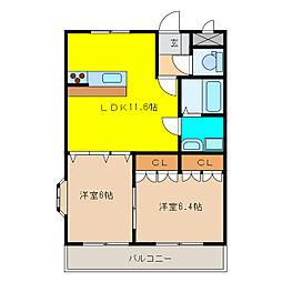 エターナル・ハート[2階]の間取り