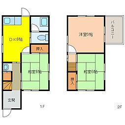 [一戸建] 愛知県犬山市上野新町 の賃貸【/】の間取り