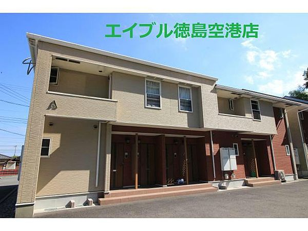 徳島県板野郡板野町羅漢字山崎の賃貸アパートの外観