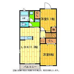 メゾン・M II[2階]の間取り