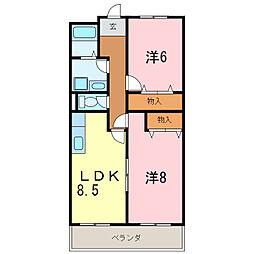 エクセル2[3階]の間取り