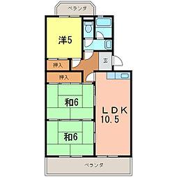 エスポワールツヅキ[4階]の間取り