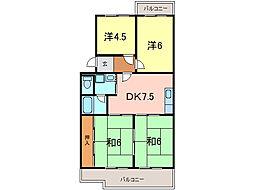 第二マンション鈴木B棟[5階]の間取り