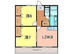 ファミール呉竹[2階]の間取り