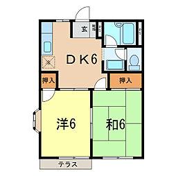 エルディム西山荘[1階]の間取り