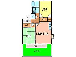 愛知県刈谷市東境町上野の賃貸アパートの間取り
