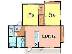 愛知県刈谷市半城土中町2丁目の賃貸アパートの間取り