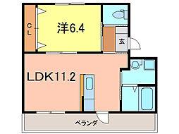 愛知県刈谷市一ツ木町6丁目の賃貸マンションの間取り