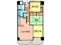 エスポワール東栄II[4階]の間取り