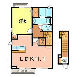 ロジュマン ジェルメ[2階]の間取り