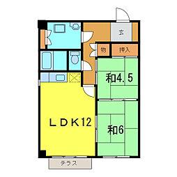 エスポ・アール高松[1階]の間取り