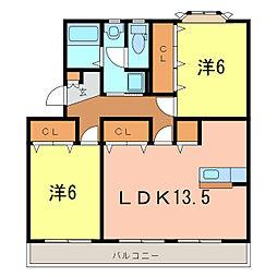 愛知県刈谷市天王町2丁目の賃貸マンションの間取り