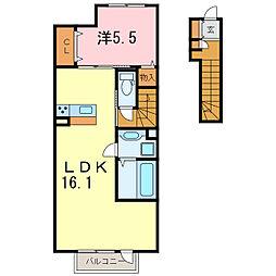 レインボーガーデン A棟[2階]の間取り