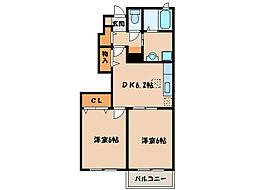 サンモール・N III[1階]の間取り