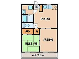 パークヒル古前城[201号室]の間取り