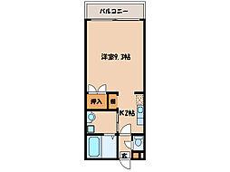 ロワールタウン串良[2階]の間取り