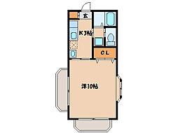 マンションシャルムA(M)   [2階]の間取り