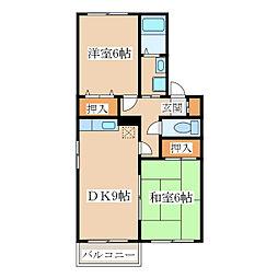 エスポワールA・B棟[2階]の間取り