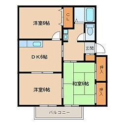 シャーメゾンK [2階]の間取り