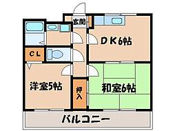 エメラルドマンション[2階]の間取り