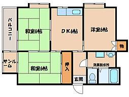 サンロード寿B棟[5階]の間取り