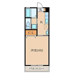第二札元大丸マンション[102号室]の間取り