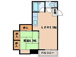 サンライズマンション寿[3階]の間取り