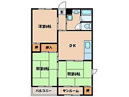 サンライズマンション寿[2階]の間取り