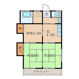 第二コーポ寿[2階]の間取り