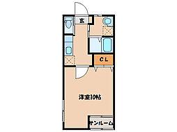 WINWIN札元D棟[2階]の間取り