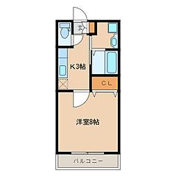 ピンクローズ[2階]の間取り