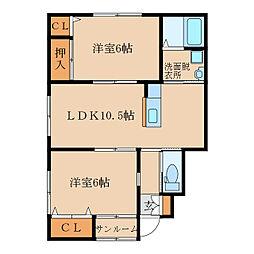 札元2丁目新築アパート(仮称[102号室]の間取り