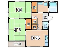 コーポフジムラ[1階]の間取り